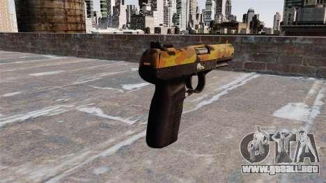 Pistola FN Five seveN Otoño para GTA 4 segundos de pantalla
