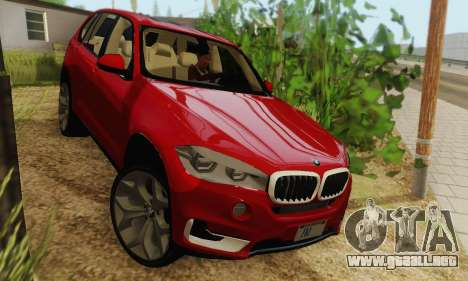 BMW X5 (F15) 2014 para GTA San Andreas vista posterior izquierda