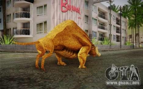 Sirian Werebull para GTA San Andreas segunda pantalla