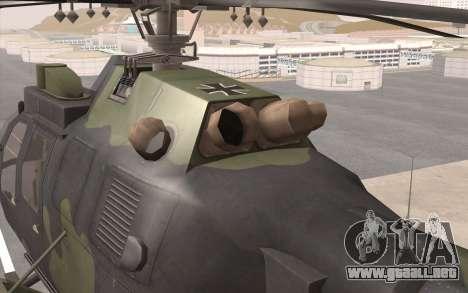 Bo-105 para GTA San Andreas vista hacia atrás