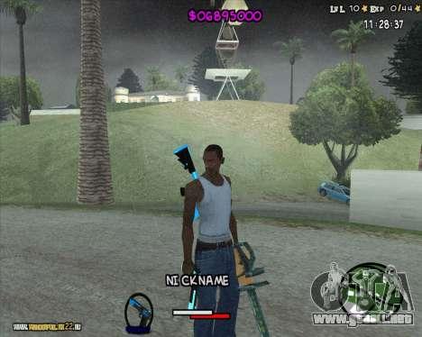 HUD by Romka MC para GTA San Andreas segunda pantalla