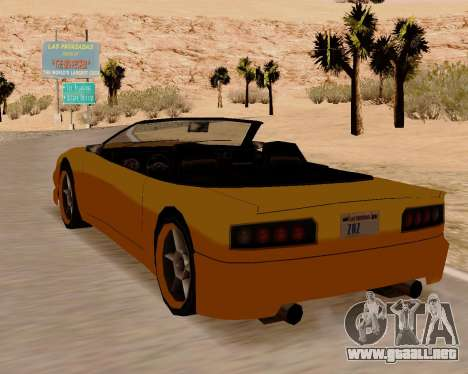 Super GT Convertible para GTA San Andreas vista posterior izquierda