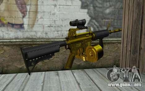Golden M4 con una tienda para GTA San Andreas segunda pantalla