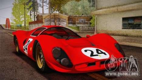 Ferrari 330 P4 1967 HQLM para la vista superior GTA San Andreas