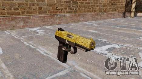 Pistola FN Five seveN de Oro para GTA 4