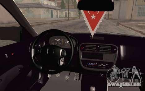 Honda Civic 1.4 BS Garage para la visión correcta GTA San Andreas