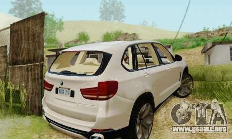 BMW X5 (F15) 2014 para visión interna GTA San Andreas