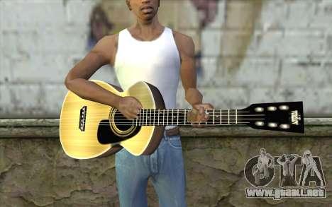 Acoustic Guitar para GTA San Andreas tercera pantalla