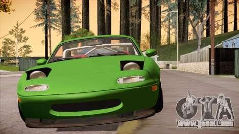 Mazda Miata Hellaflush para GTA San Andreas vista hacia atrás