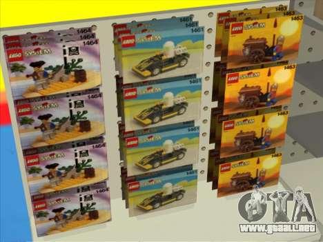 La tienda de LEGO para GTA San Andreas sucesivamente de pantalla