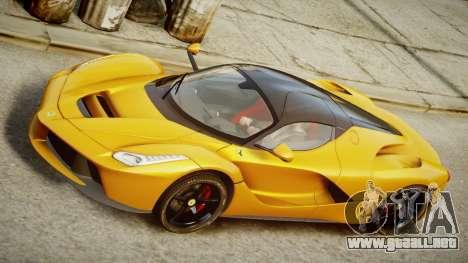 Ferrari LaFerrari v1.2 para GTA 4 Vista posterior izquierda