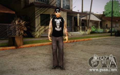 M. Shadows Skin para GTA San Andreas segunda pantalla