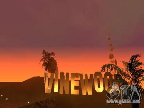 Beta Timecyc para GTA San Andreas segunda pantalla