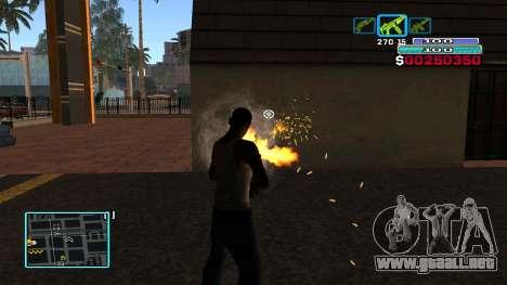 C-HUD Hast para GTA San Andreas sucesivamente de pantalla