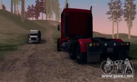 GTA V Packer para GTA San Andreas vista hacia atrás