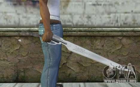 Squalls GunBlade para GTA San Andreas tercera pantalla