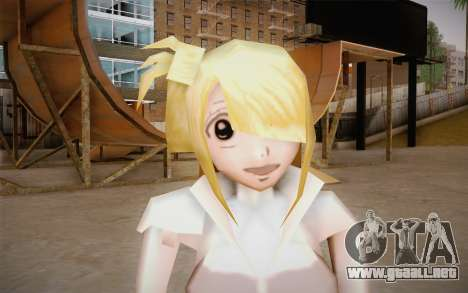 Lucy Heartfilia para GTA San Andreas tercera pantalla