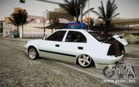 Hyundai Polis TR para GTA San Andreas left