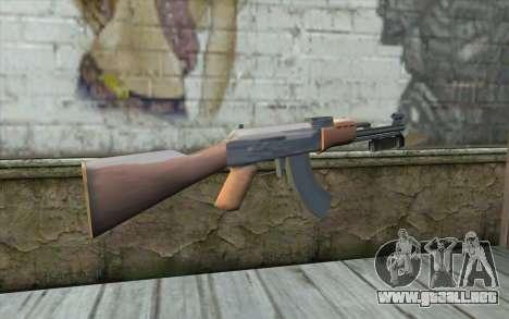 AK47 con una bayoneta para GTA San Andreas segunda pantalla