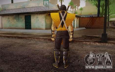 Clásico Escorpión из MK9 DLC para GTA San Andreas segunda pantalla