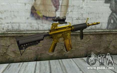 Golden M4 con una vista para GTA San Andreas segunda pantalla
