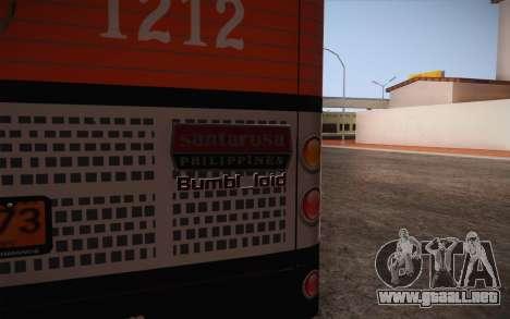 Mercedes-Benz Argentina Thailand Bus para GTA San Andreas vista hacia atrás