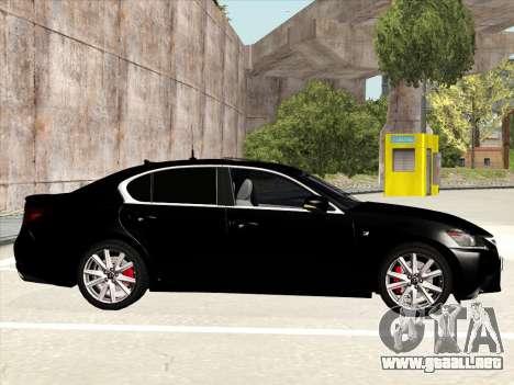 Lexus GS350F Sport para GTA San Andreas vista posterior izquierda