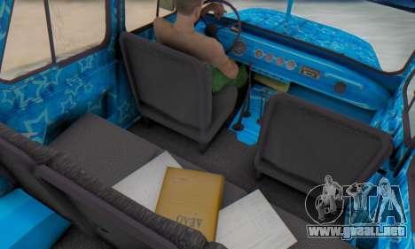 UAZ 469 Blue Star para visión interna GTA San Andreas