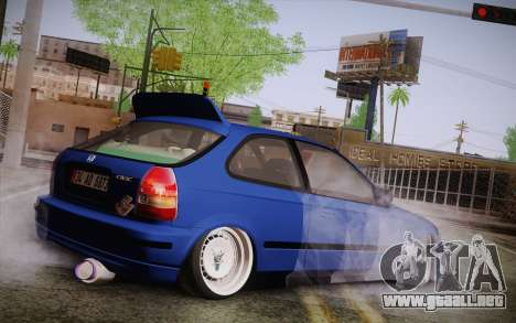 Honda Civic 1.4 BS Garage para GTA San Andreas left