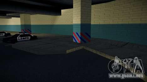 Nuevo garaje LSPD para GTA San Andreas tercera pantalla