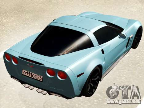 Chevrolet Corvette Grand Sport para la visión correcta GTA San Andreas