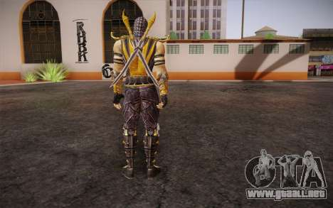 Escorpión из Mortal Kombat 9 para GTA San Andreas segunda pantalla