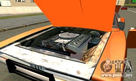 Dodge Charger General lee para la visión correcta GTA San Andreas
