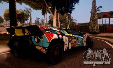Lamborghini LP750-4 2013 Veneno Stikers Editions para GTA San Andreas vista hacia atrás