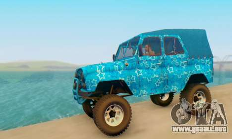 UAZ 469 Blue Star para GTA San Andreas left