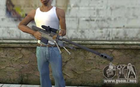 Sniper Rifle from Halo 3 para GTA San Andreas tercera pantalla