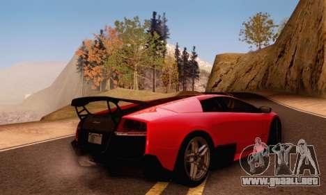 Lamborghini Murcielago LP670-4 SV para vista lateral GTA San Andreas