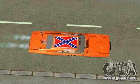 Dodge Charger General lee para visión interna GTA San Andreas