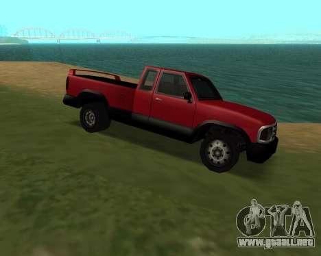Recogida Nuevo para GTA San Andreas vista posterior izquierda