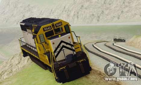 GTA V Trem 2 para GTA San Andreas vista posterior izquierda