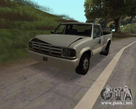 Recogida Nuevo para GTA San Andreas vista hacia atrás