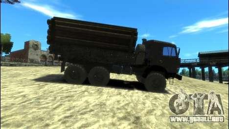 KamAZ 43114 Lado para GTA 4 left