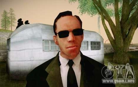 Agent Smith from Matrix para GTA San Andreas tercera pantalla