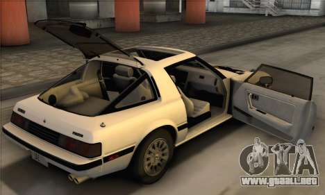 Mazda RX-7 GSL-SE 1985 IVF para visión interna GTA San Andreas