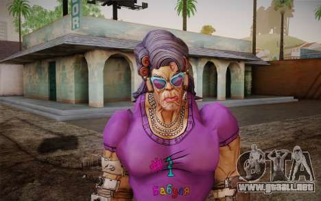 La abuela Flexington из Borderlands 2 para GTA San Andreas tercera pantalla
