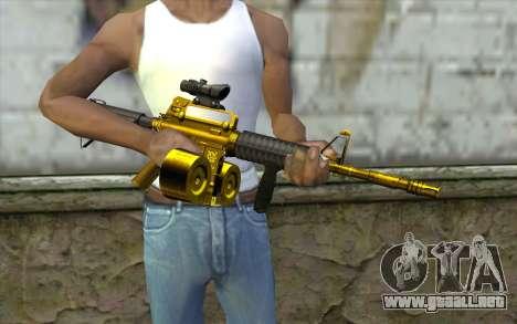Golden M4 con una tienda para GTA San Andreas tercera pantalla