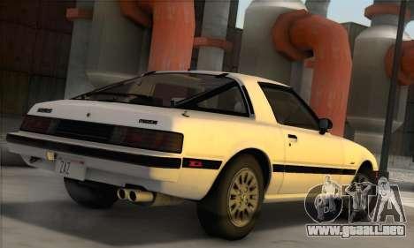 Mazda RX-7 GSL-SE 1985 IVF para GTA San Andreas left