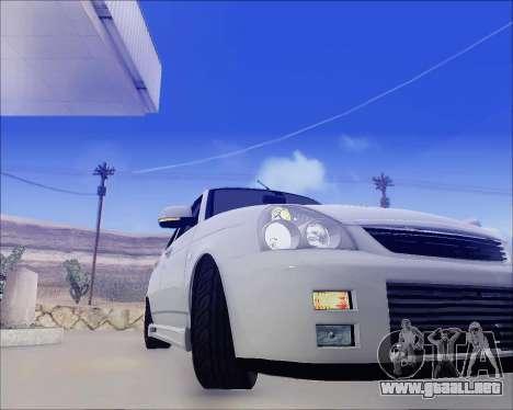 Lada 2170 Priora Tuneable para vista lateral GTA San Andreas