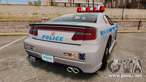 GTA V Bravado Buffalo NYPD para GTA 4 Vista posterior izquierda