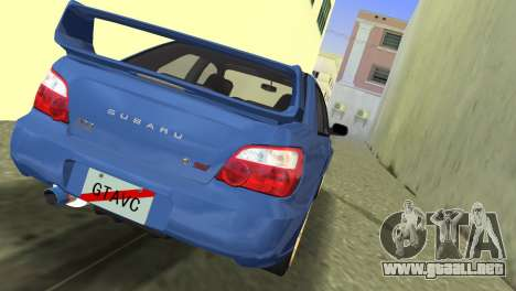 Subaru Impreza WRX STI 2005 para GTA Vice City left